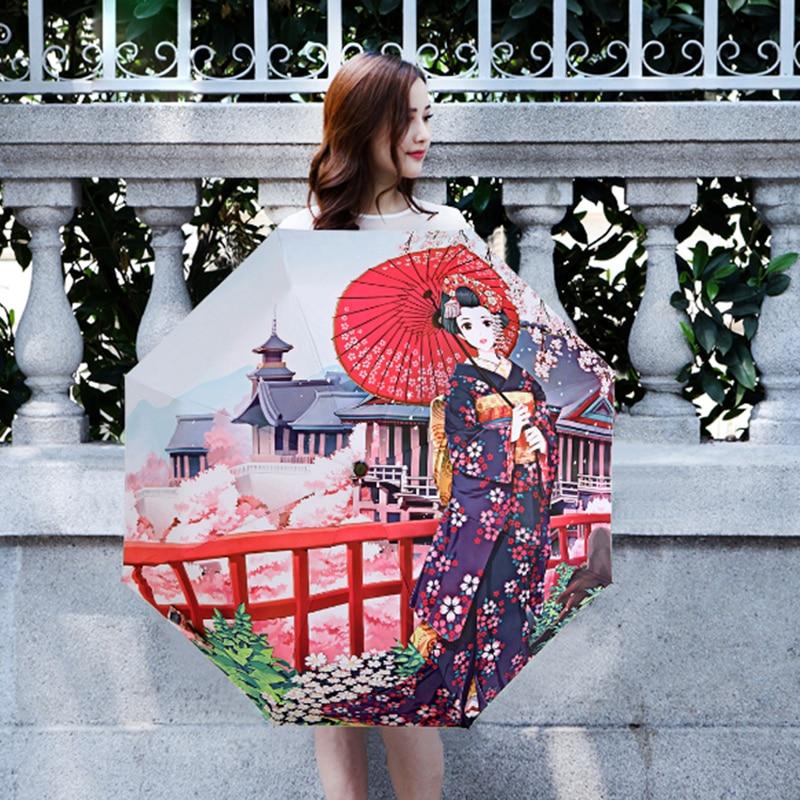 Ilustrim Kreativ Vajzë Sakura Japoneze Vajza Sakura / Dielli 3 - Mallra shtëpiake - Foto 5