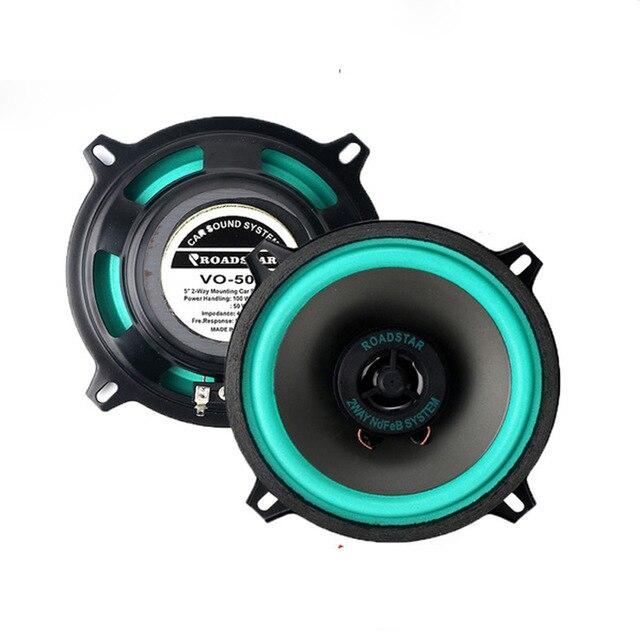 2 pz Altoparlanti Auto Coassiali Più Poco Costoso 5 pollice 135mm 50 w Altoparlanti Auto Bassi Auto Sound Musica Car Audio stereo W/Tweeter per Auto