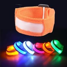 Outdoor Tool LED Luminous Arm Bracelet Light Night Safety Warning Flash wristband 10pcs/lot