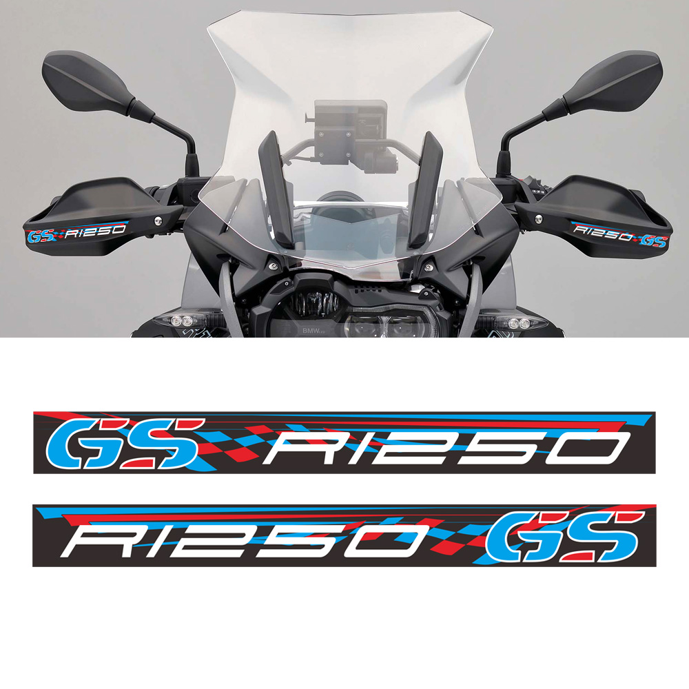 For BMW R1250GS R1250 1250 ADV LC GS Decal Stickers Wind Deflector Shield Protectors Hand Handlebar Handle Bar Guards Handguard