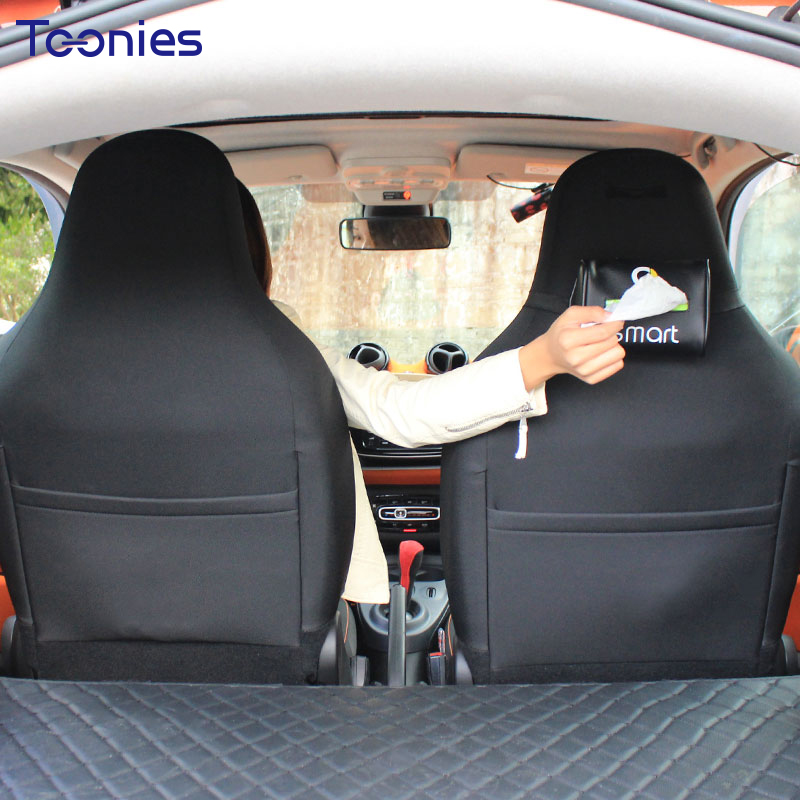 Smart fortwo forfour Sombras deflector caja negro anti-dirtychair trasera caja de papel asiento colgante car styling cuero durable bolsa