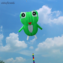 Abbyfrank 2M 3D Frog Cartoon Flying Kite Software Animal Kite Outdoor Sport Easy To Fly High Quality Fun Breeze Toy For Kids