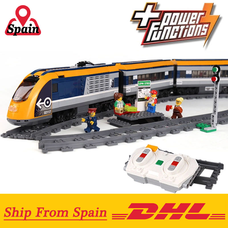RC City Train 02117 Compatible with Legoings 60197 Passenger Train Set Building Blocks Bricks Kids Remote Control Toys-in Blocks from Toys & Hobbies    1