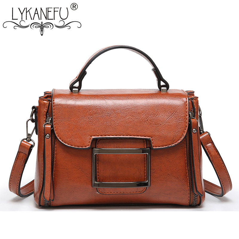 71e918883677 Detail Feedback Questions about LYKANEFU 2018 NEW Wax PU Leather Women  Messenger Bags Designer Handbag Vintage Style Lady Purse Cross body Bag  with Long ...