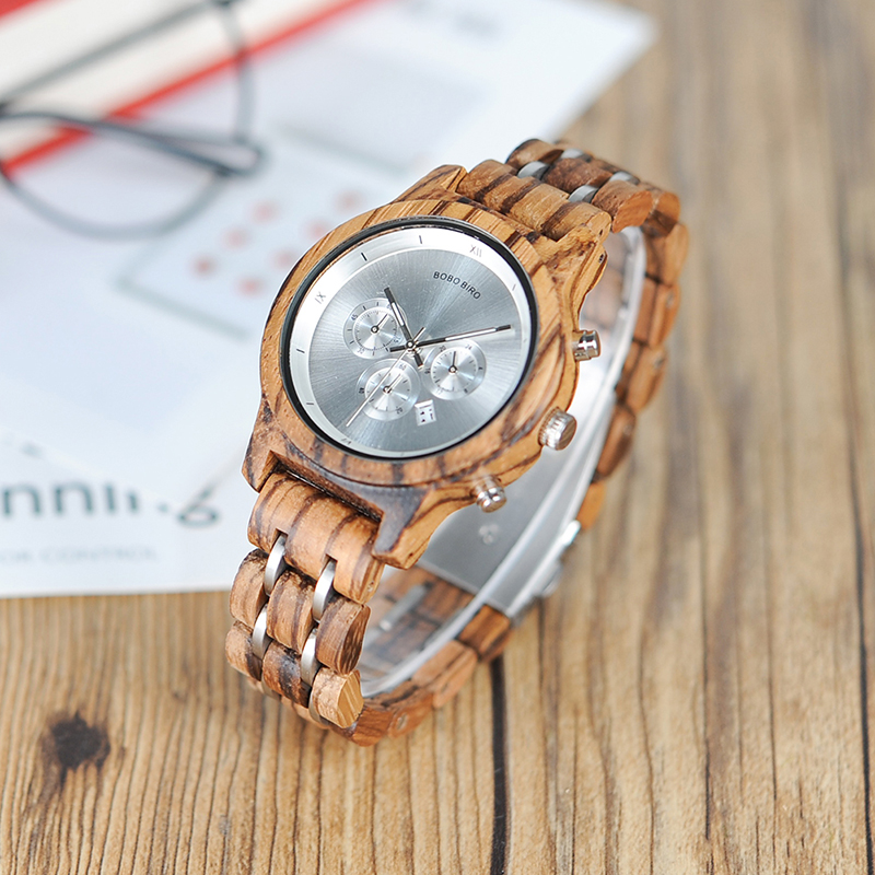 BOBO BIRD New Wooden Watches Women Miyota Quartz Movement Clock Gift For Ladies With Wooden Box B-P18
