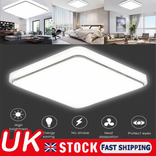 Bright Square LED Ceiling Down Light Panel Wall Kitchen Bathroom Lamp Cool White