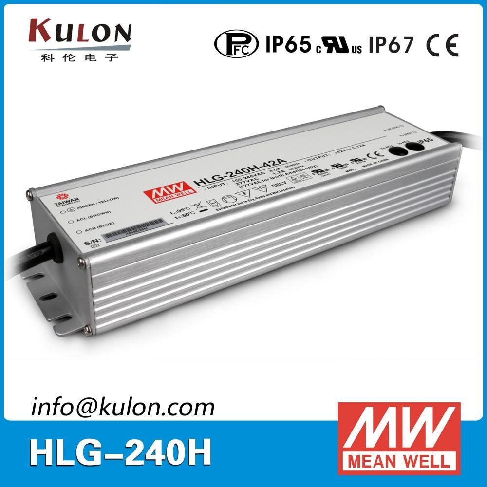 все цены на Genuine Meanwell HLG-240H-24A 24V adjustable Power Supply 240W 10A IP65 waterproof led driver онлайн