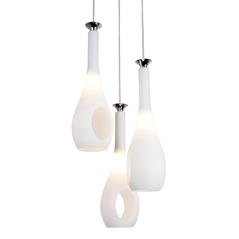 Luxury Ivory Glass Bottles Dining Room Pendant Lamp Modern Bar Counter Pendant Light Creative Restaurant Pendant Fixtures