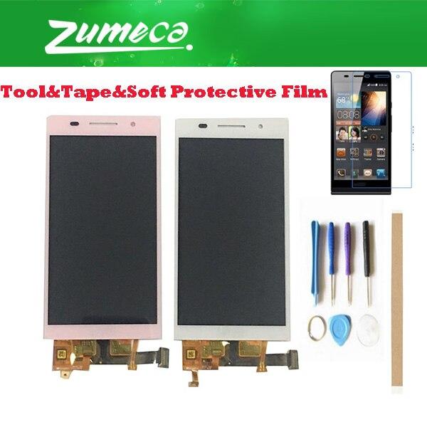 4.7 Polegada Para Huawei Ascend P6S P6-U06 C00 T00 S-U06 Huawei 2 P6 Screen Display LCD + Digitador Da Tela de Toque cor Com Kits