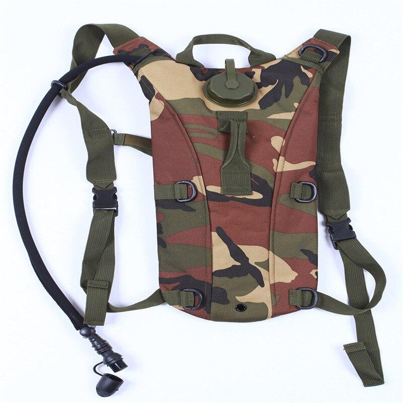 2.5L Tactical Gym Bag Canvas Campus Travel Sport Backpack Camel Water Bag