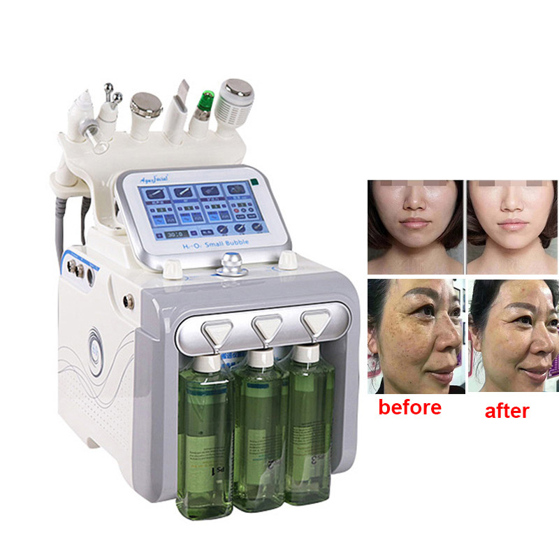 6in 1 Face Cleaning Machine Hydra Water Oxygen Jet Facial Massager For Exfoliating Skin Whitening Anti-acne Face Lifting Device