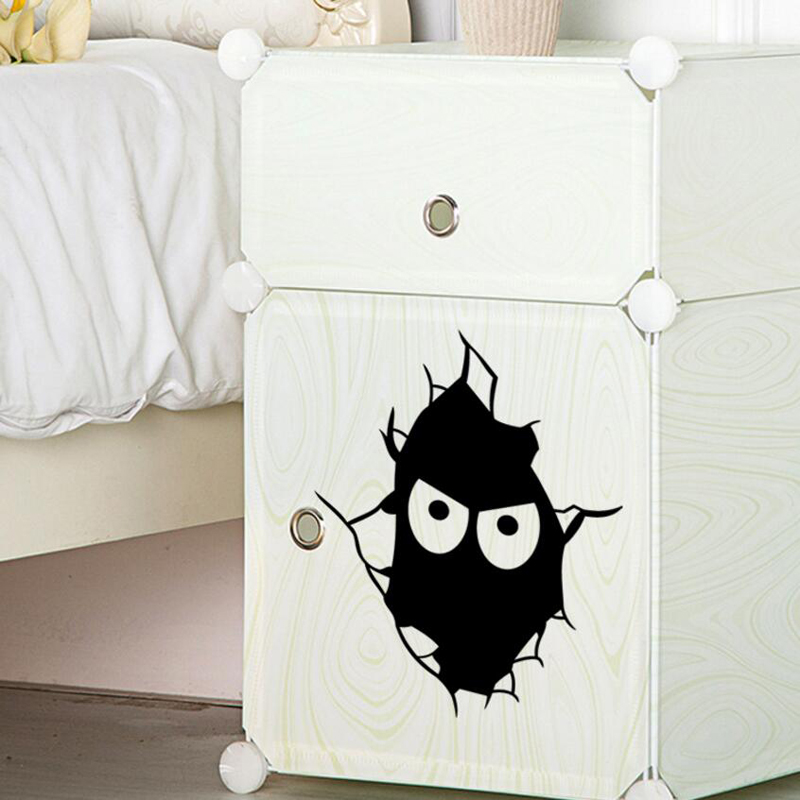 Black expression toilet stickers Toilet wardrobe notebook Removable wall stickers home decoration sticker