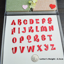 Patchs brodés de lettres anglaises rouges de l'alphabet, 1 pièce, à appliquer pour vêtements, chaussures, sacs, application sur patchs