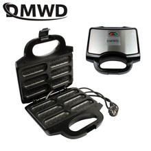 DMWD Electric Waffle Sausage Machine Mini Crispy French Hot Dog Lolly Stick Muffin Breakfast Frying Pan Hotdog Corn Baking Grill(China)