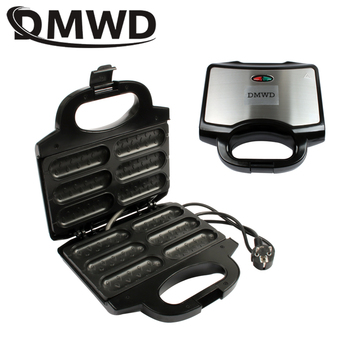 DMWD Electric Waffle Sausage Machine Mini Crispy French Hot Dog Lolly Stick Muffin Breakfast Frying Pan Hotdog Corn Baking Grill air frying pan new special price large capacity intelligent oil smoke free fries machine automatic electric frying pan 220v 3l
