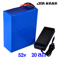 52v battery 52v 20ah lithium ebike battery 52v 20ah electric scooter battery 52v 20ah lithium battery for 48V 500W 1000W motor