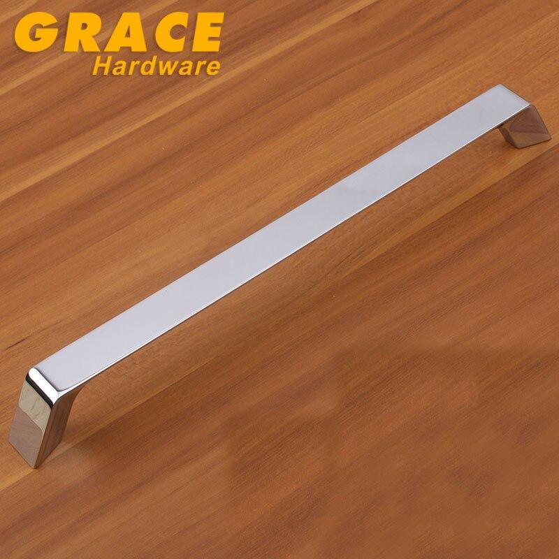 Оборудование хромированного гардеробы ручка шкаф ящик дверной ручки современная ( cc : 256 мм, L : 272 мм )