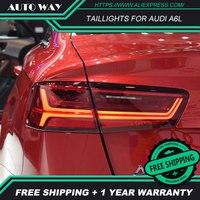 Автомобильный стильные стоп сигналы чехол для Audi A6L A6 2012 2016 задних сигнальных огней, светодиодный DRL ходовые фары, противотуманные фары габа