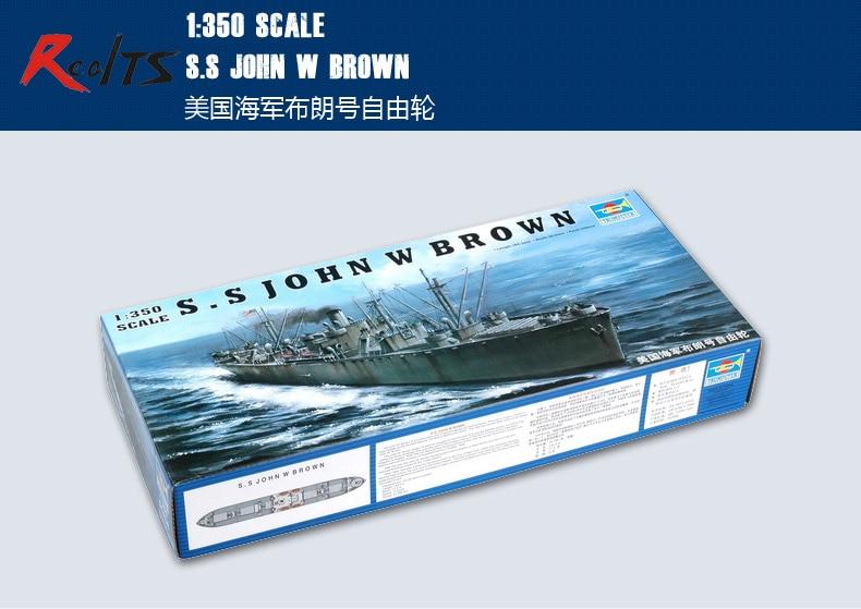 RealTS Trumpeter 1/350 05308 Liberty Ship SS John W. Brown
