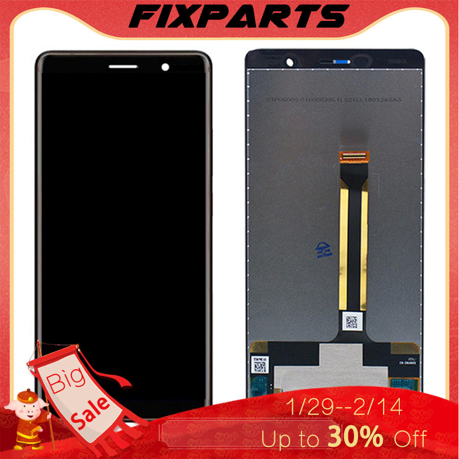 6 0 ORIGINAL Display For Nokia 7 Plus LCD 7Plus Display Touch Screen Digitizer For Nokia