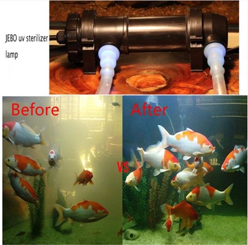 JEBO Akvarium gölməçəsi UV sterilizator lampa İşıq suyu - Ev heyvanları və zoo məhsullar - Fotoqrafiya 2