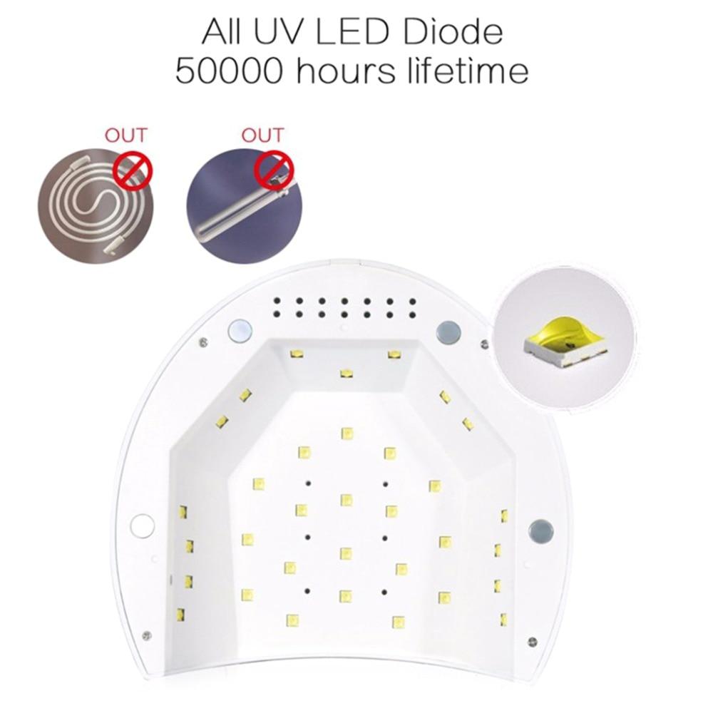 led cura lâmpada luz temporizador configurações manicure