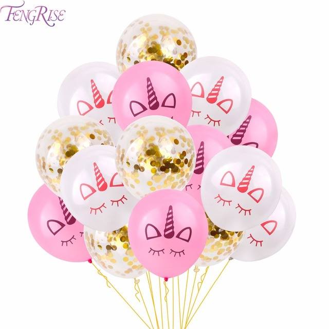 Fengrise Einhorn Ballon Rosa Latex Einhorn Ballon Einhorn Party