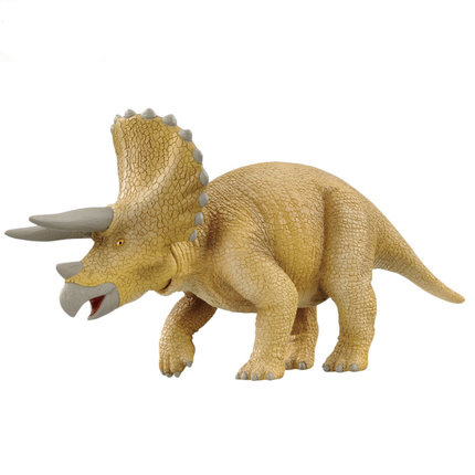 Simulation model of wildlife movable toy triceratops