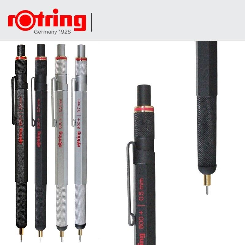 Crayon mécanique Rotring 800 + 0.5mm/0.7mm stylo multifonction en métal argenté/noir, stylo condensateur, stylet