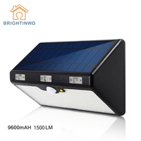 LED Solar Light Outdoor 66LED 9600mAH 1350LM High Brightness Emergency Lighting Garden Street Ip65 Lamp Luminaria