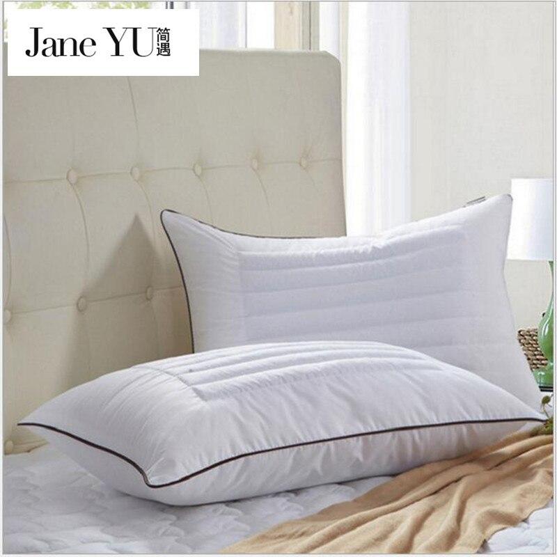 janeyu buckwheat husk filling pillow polyester fiber home textiles sleeping neck health cotton fabric bedding pillows