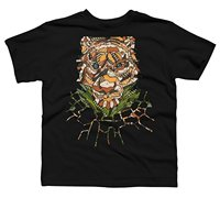 T Shirt Fashion Tops Gildan Short Men Graphic Crew Neck ABSTRACT TIGER Boy's Youth Graphic T Shirt - Design By Humans