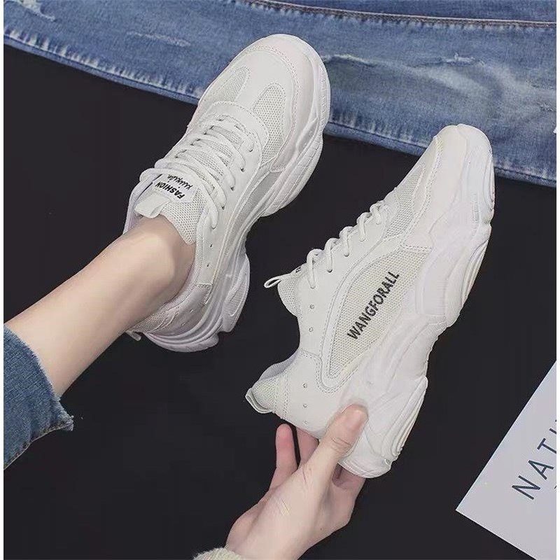 Frauen Schuhe 2019 Neue Chunky Turnschuhe für Frauen Vulkanisieren Schuhe Casual Mode Papa Schuhe Plattform Turnschuhe Korb Femme Krasovki