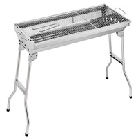 Stainless Steel Outdoor Barbecue Carbon Grill BBQ Outdoor Party Portable and Foldable BBQ Rack Charcoal Grill Standard Package