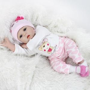 Image 2 - 16/22 אינץ סיליקון Reborn תינוק בובת 40cm בחיים Bebe Menina ממולא לשחק צעצועי Reborn בובות 55cm יום הולדת הפתעה מתנות