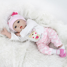 16inch 40cm Silicone Reborn Baby Doll Soft Realistic Bebe Girl Dolls Alive Real lol Lifelike Birthday Gift Menina Children Toys