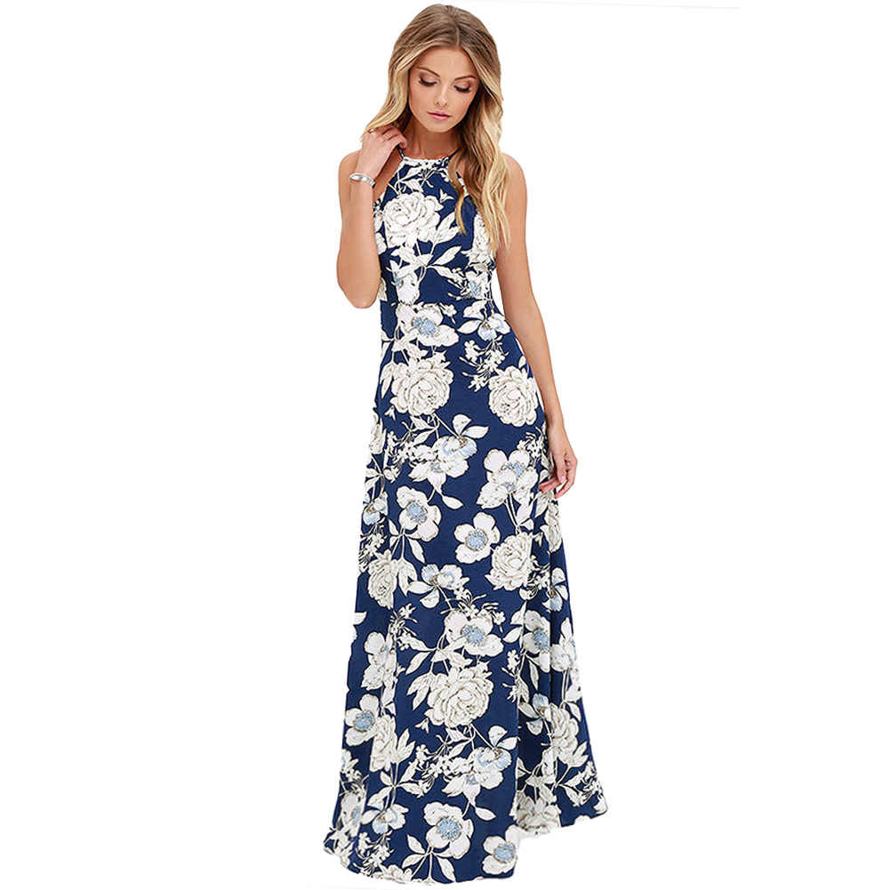 a624cafe877 ... Anself Vintage Floral Print Summer Long Maxi Dress Off Shoulder Sexy  Women Causal Dress Plus Size ...