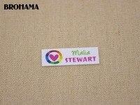 128 Multicolored Heart Shaped Name Label Decorative Label Children S Clothing Label White Organic Cotton TB022