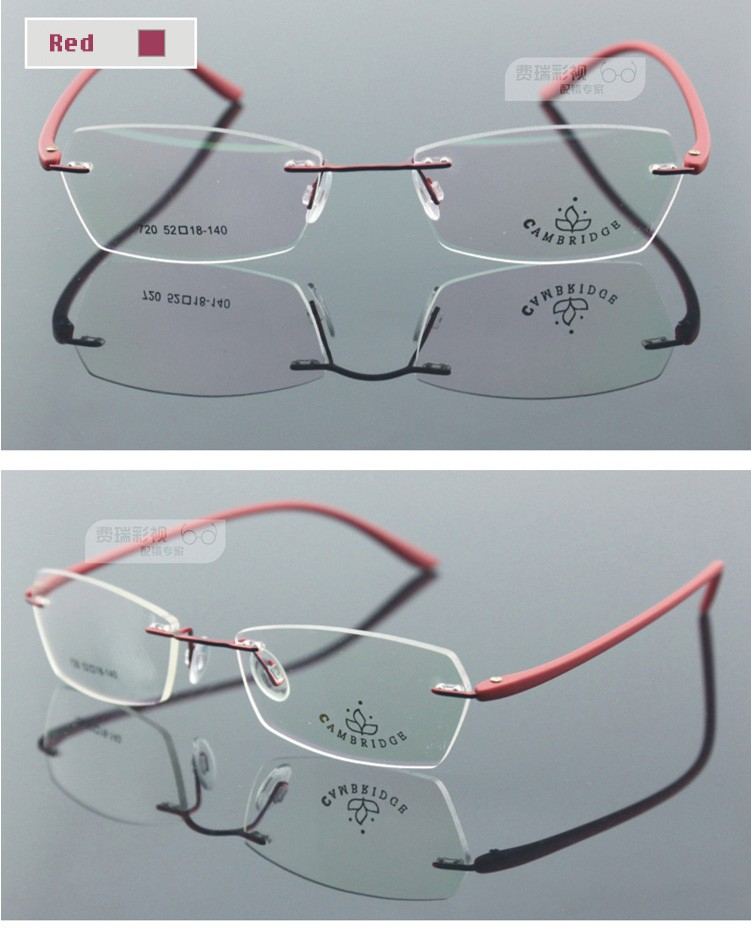 efb625952e Women glasses frame fashion brand designer rim less ultra light ...