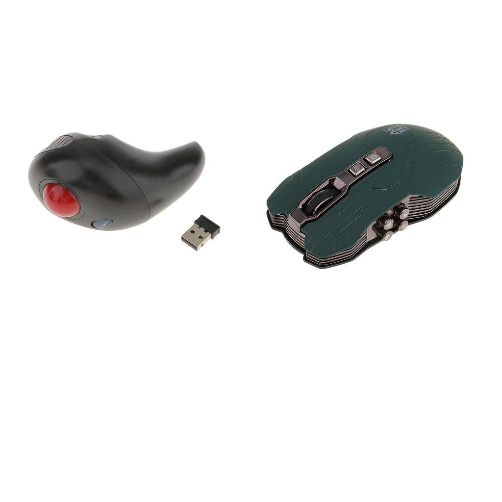 USB Wireless Handheld Trackball Mouse + 2.4G Mouse Optical Mice Ergonomic мышь kensington orbit optical trackball 64327eu