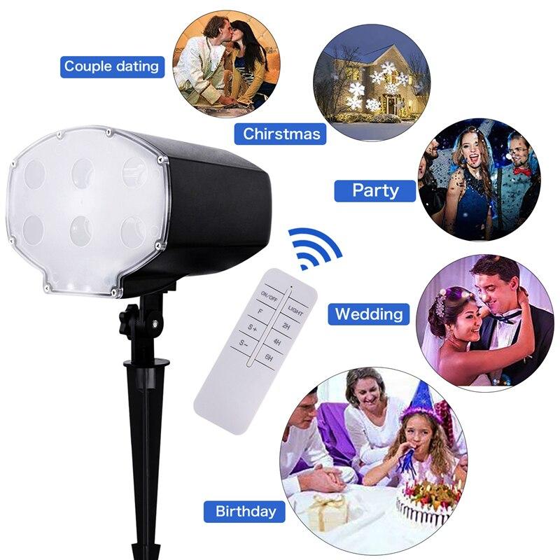 Party voor Waterdichte Tuin EU Laser Projector Licht Podium Lampen Sneeuwvlok Lamp Nieuwjaar 90-240 Plug IP65 Gazon Kerst LED #