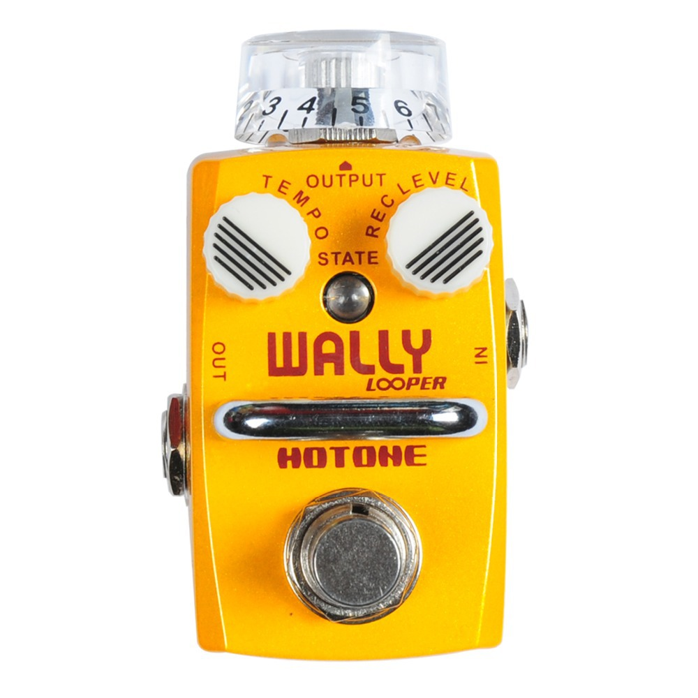 Hotone Wally Looper Loop Station Overdub Record / Electric Guitar Effect Pedal / Smallest but Smartest Top Grade Fancier Choice hotone grass classic tube overdrive effect pedal electric guitar bass true bypass top grade fancier choice