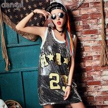 Lentejuelas camiseta 2018 hip hop blingt de base larga calle camiseta  fresca para la etapa dance b8d10c38811