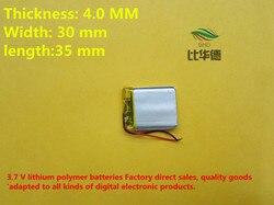 (Frete grátis) (5 peças/lote) 043035 380 mah bateria de lítio-polímero qualidade dos bens da qualidade do CE FCC ROHS certificação autoridade
