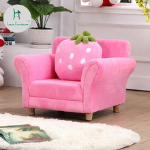 Louis Fashion Children Sofa Chair Lovely Cartoon Cloth Strawberry Sofa Pink  Princess Baby Kindergarten(China