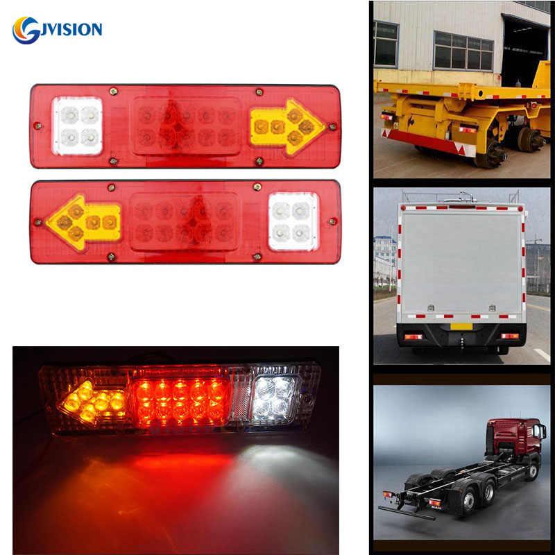 12v 24v Truck Led Tail Light Rear Lamp Stop Reverse Safety Indicator Fog Lights For Trailer