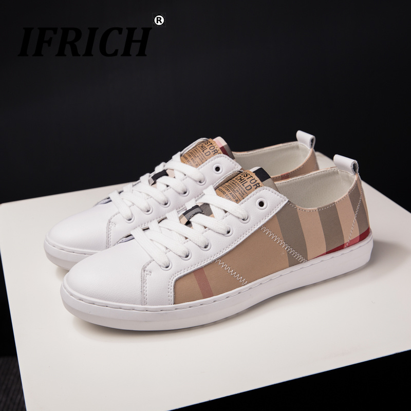 Ifrich décontracté marque hommes chaussures noir jeunesse mode hommes chaussures chaussures de marche confortables pour hommes baskets à lacets homme bonne qualité