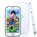Inglês/Russo crianças telefone de brinquedo com luz touch-screen telefone celular de música brinquedos de Gravação de Música Brinquedos Educativos WJ307