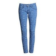 Lunar azul Jeans mujeres más tamaño recubierto bajo-Cintura caliente Sexy  verano moda medias de longitud completa elástico skinn. 427c5d6f6d6
