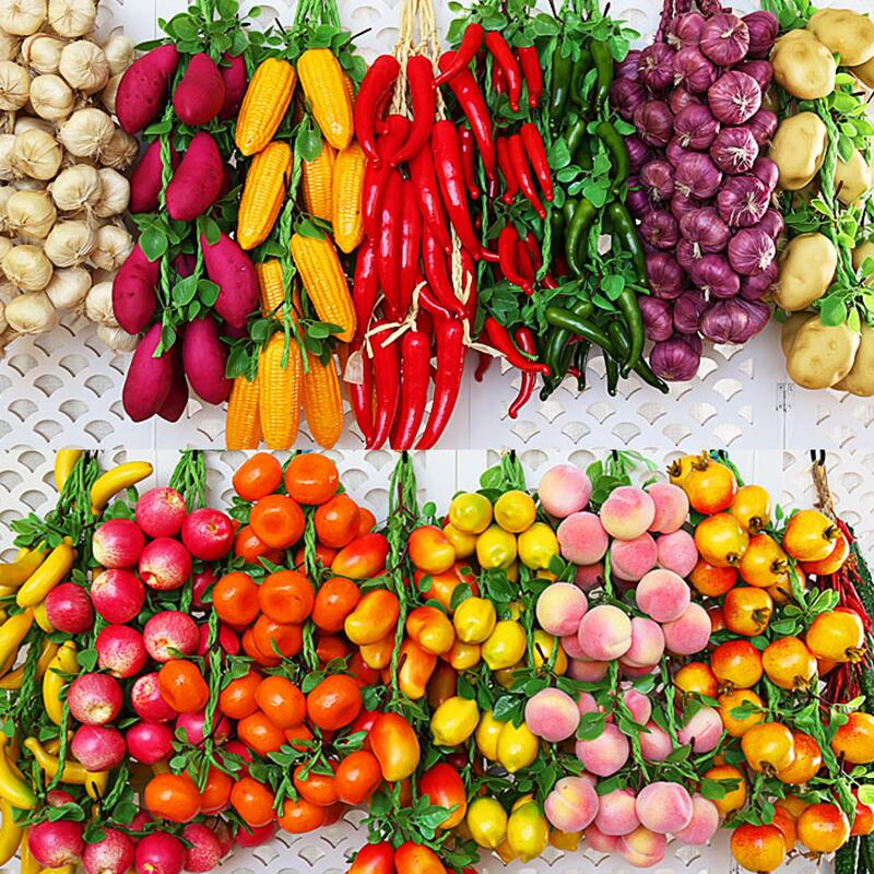 Artificial Simulation Food Vegetables Fruit PU Red Pepper Fake Lemon Vegetables For Home Restaurant Kitchen Toys